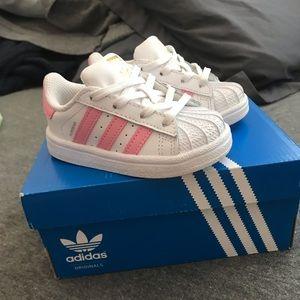 Pink Adidas size 5